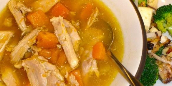 Roasted Chicken & Butternut Soup