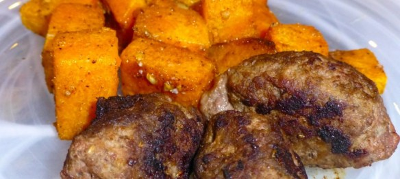 Peppery Herb Lamb Sausage with Squash