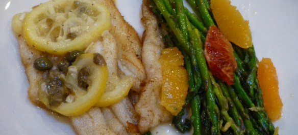 Sole with Asparagus