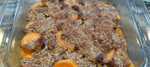 Maple Glazed Yams with Pecan Topping