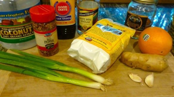 Orange Chicken Ingredients (2 of 2)