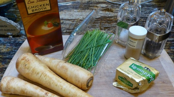Ingredients for Mashed Parsnips