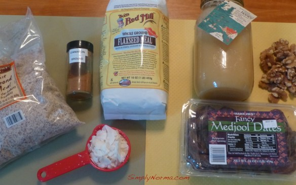 Ingredients for Paleo Peach Cobbler