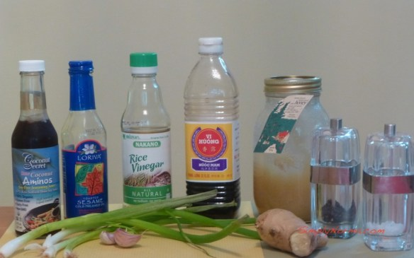 Ingredients for Asian Chicken Thighs