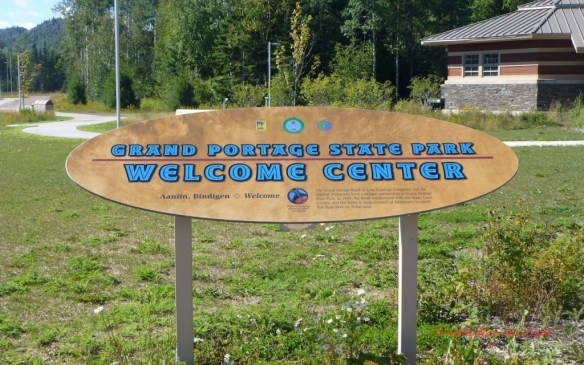 Grand Portage State Park Welcome Center Sign