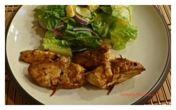 Grilled Orange Chicken with Romaine Salad