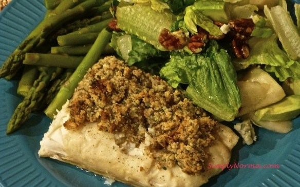 Halibut - Parmesan and Parsley Crusted