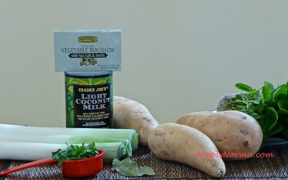 Ingredients for Sweet Potato Soup