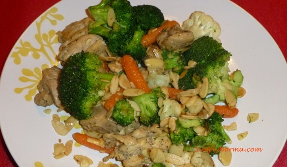 Chicken, Veggies and Almonds
