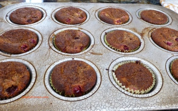 Baked Cranberry Orange Muffins