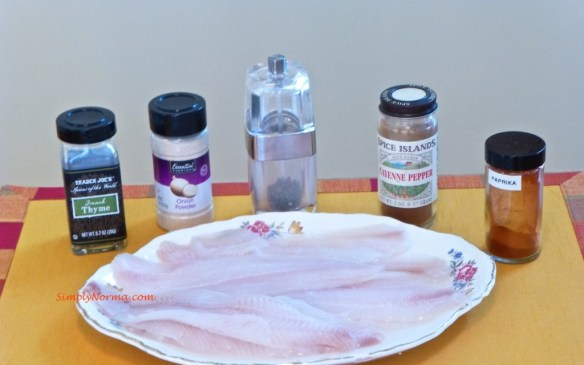 Sole and Ingredients for Seasoning