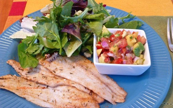 Baked Sole with Mango Salsa