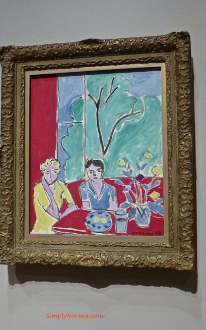 Two Girls, Red and Green Background, Matisse, 1947
