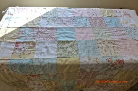 Pinning a Quilt
