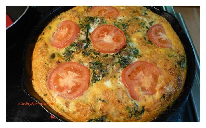 Spinach Turkey Frittata
