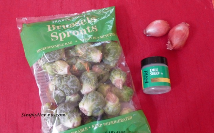 Ingredients for Brussels Sprouts with Shallots and Dill