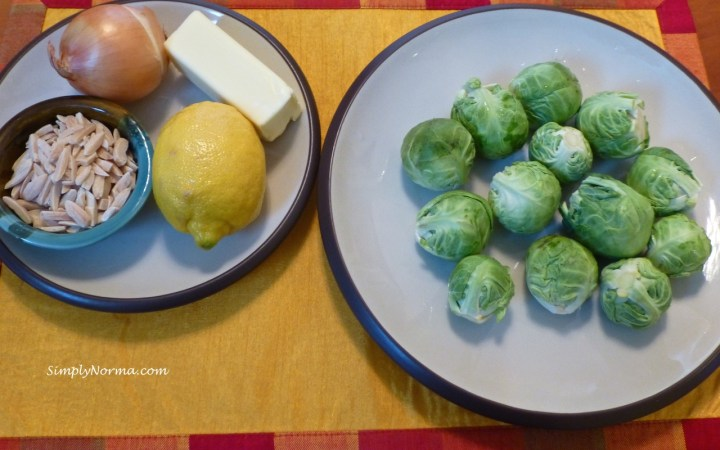 Ingredients for Brussels Sprouts with Toasted Almonds