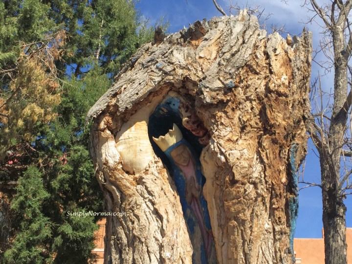 Albuquerque Statue of Virgin de Guadalupe in Tree