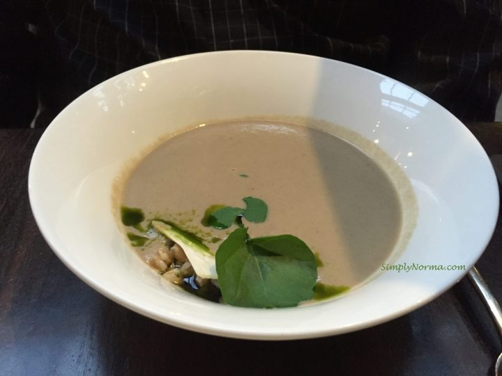 Wild Mushroom Soup, Spoon and Stable