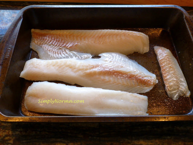 Clean and dry the cod