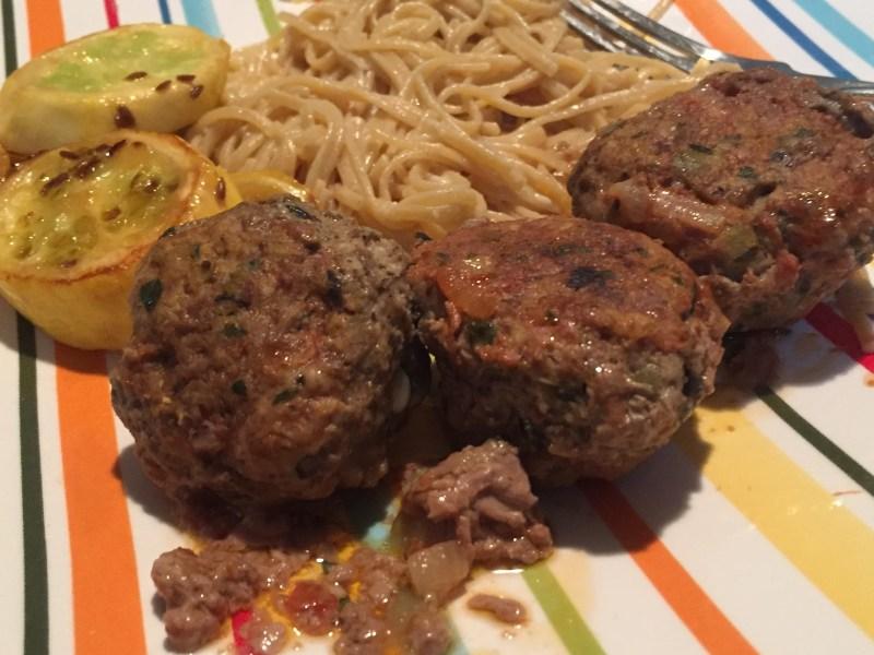 Baked Greek Stuffed Meatballs ~ Paleo