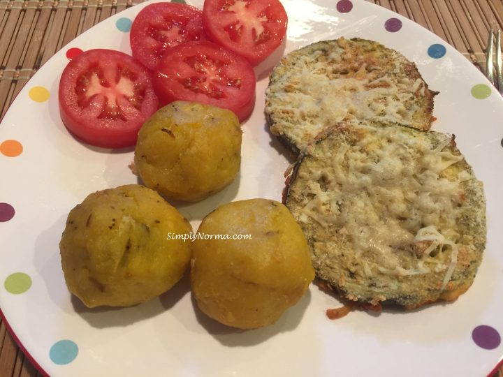 Beef & Cheese Filled Plantain Balls
