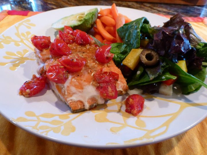 Baked Salmon with Cherry Tomatoes