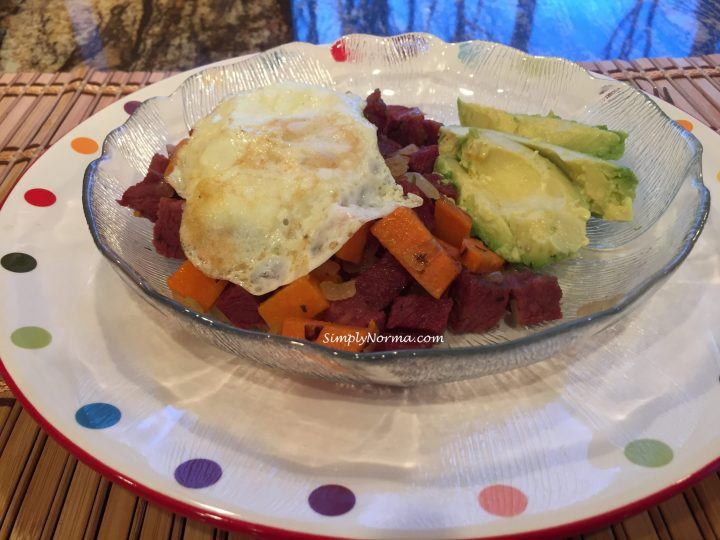 Corn Beef Hash with Fried Eggs ~ Paleo