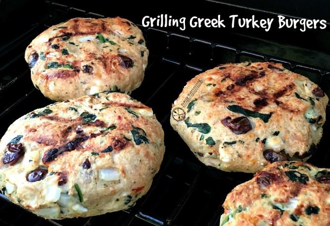 Greek Burgers on Grill