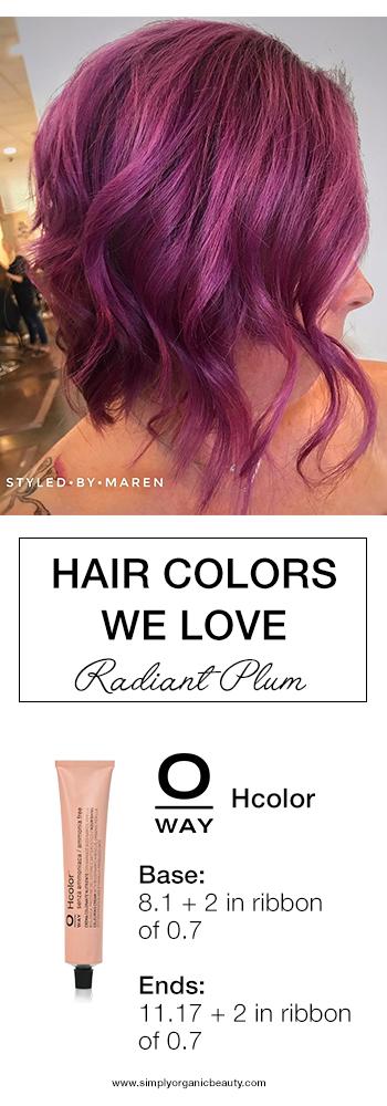 plum hair color formula trending hair colors this week