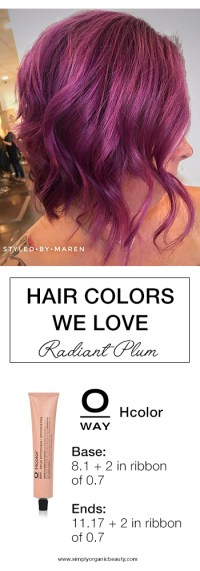 plum hair color formula trending hair colors this week