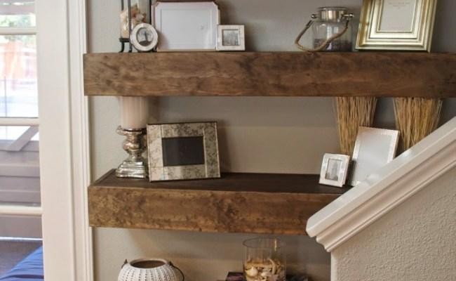 Simple Diy Floating Shelves Tutorial Decor Ideas