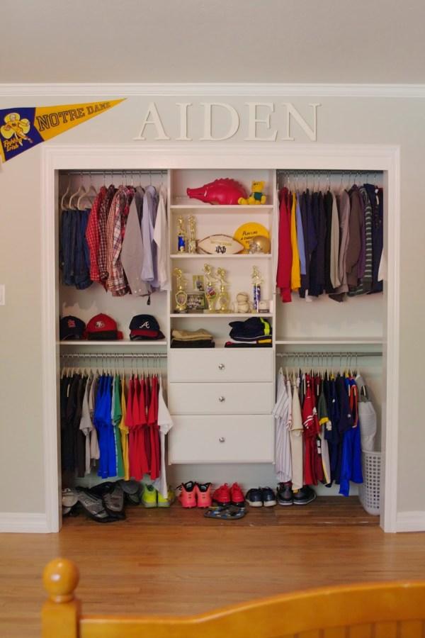 Boys Bedroom Closet Organization Ideas