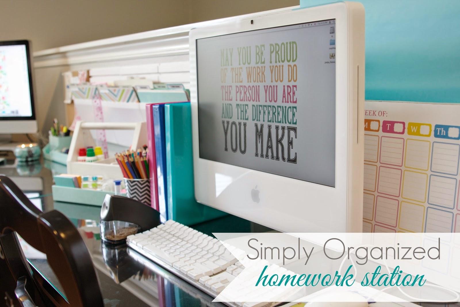 Organized Homework Station