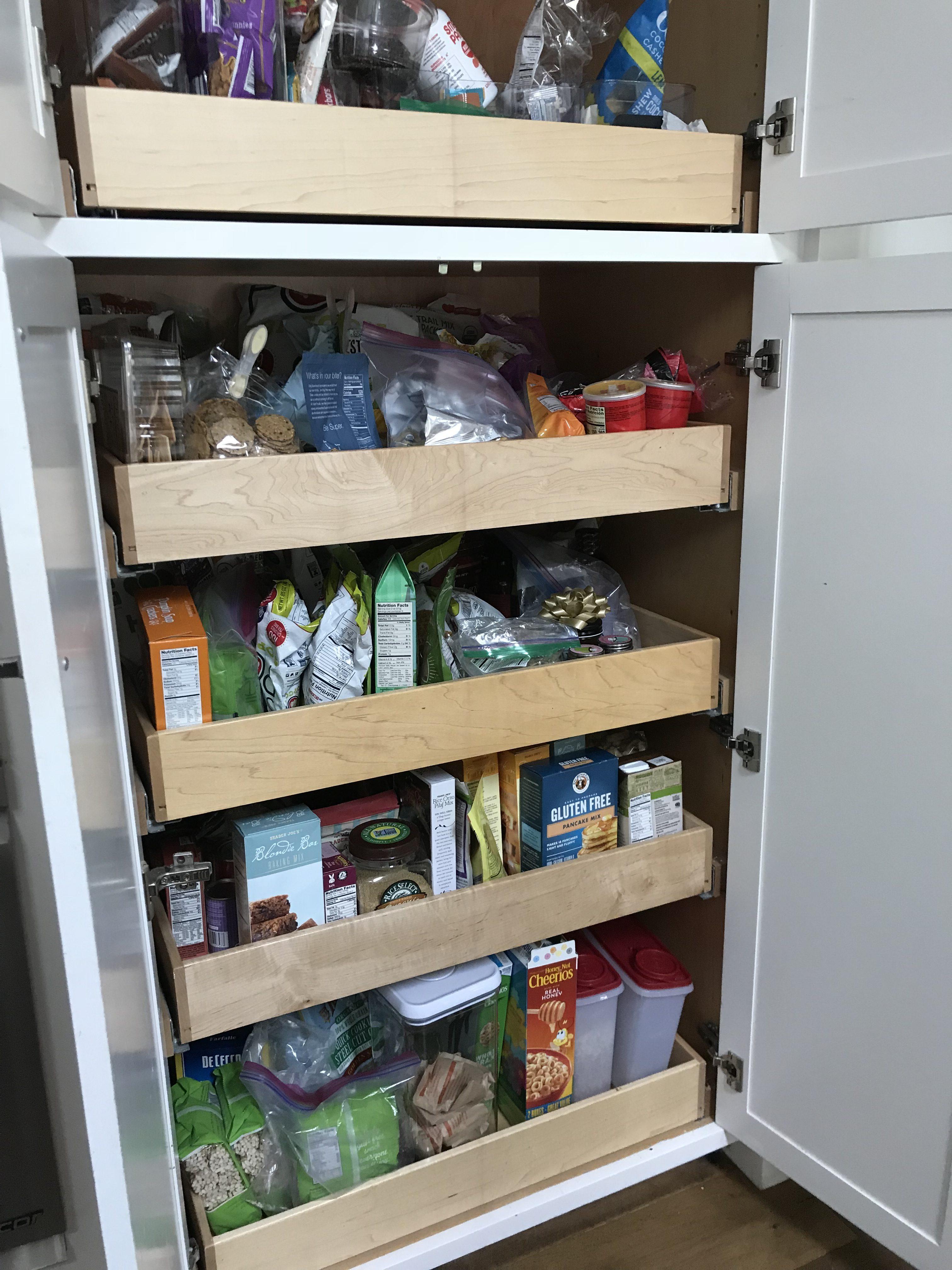 Organized WalkIn Pantry  PullOut Pantry Cabinet