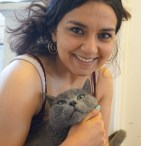 Simply Pets Cat blogger Zoe and her pet cat Grady