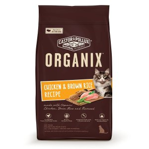 Buy chicken & brown rice dry cat food that is organic, safe and easily digestible for kittens, cats, elderly pets and those with cat allergies.