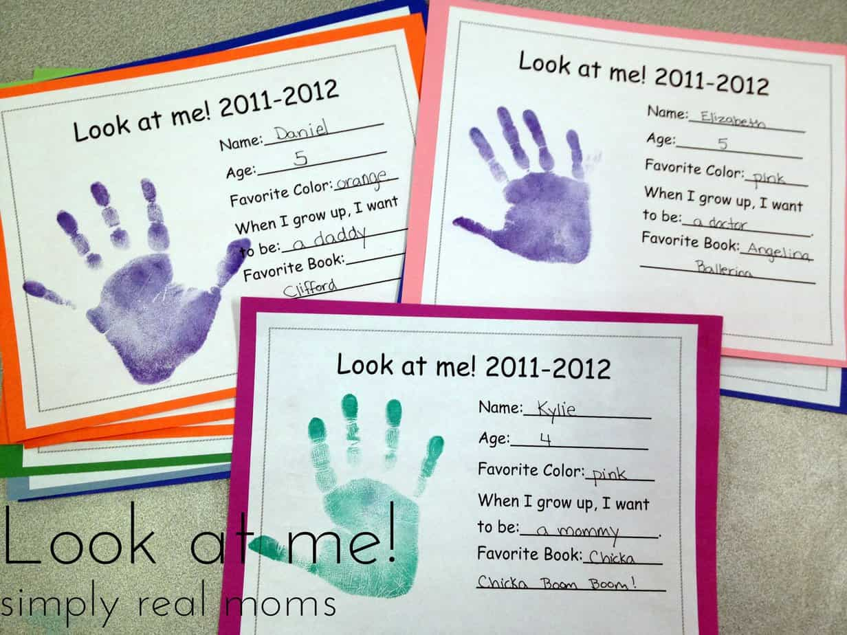 Look At Me With Free Printable