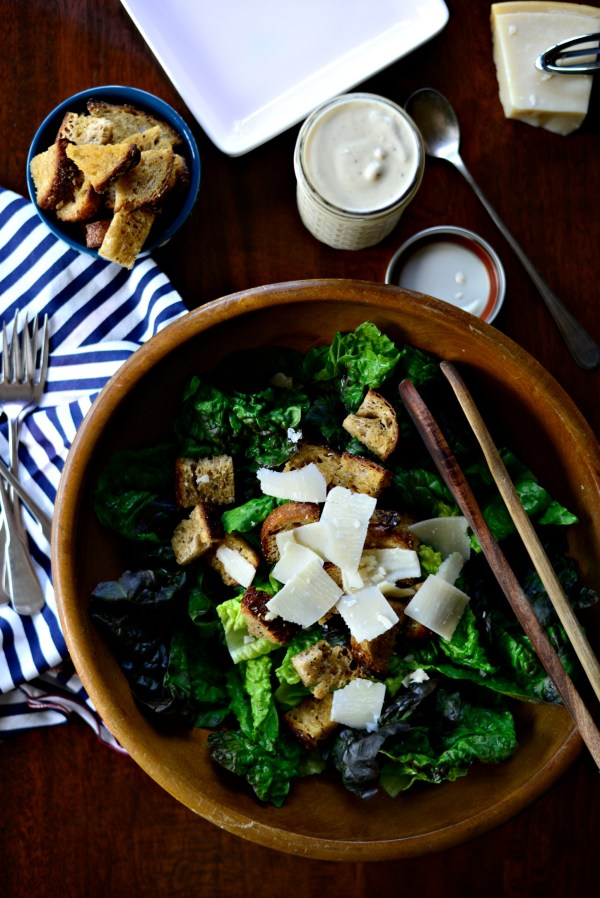Simply Scratch Caesar Salad with Homemade Caesar Dressing