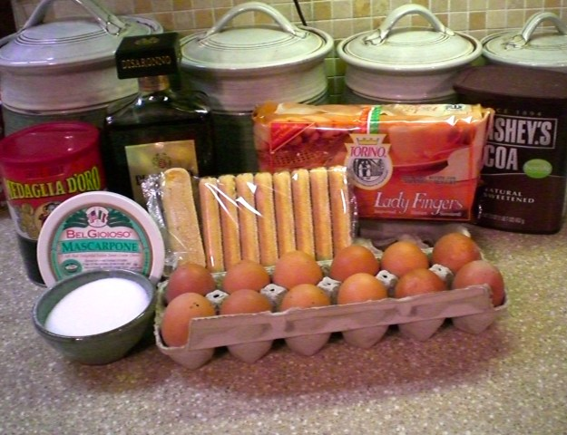 Ingredients for Tiramisu!