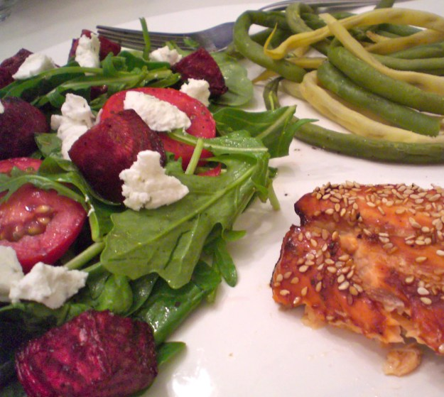 Roasted Beet and Goat Cheese Salad   Simply Scrumptious by Sarah