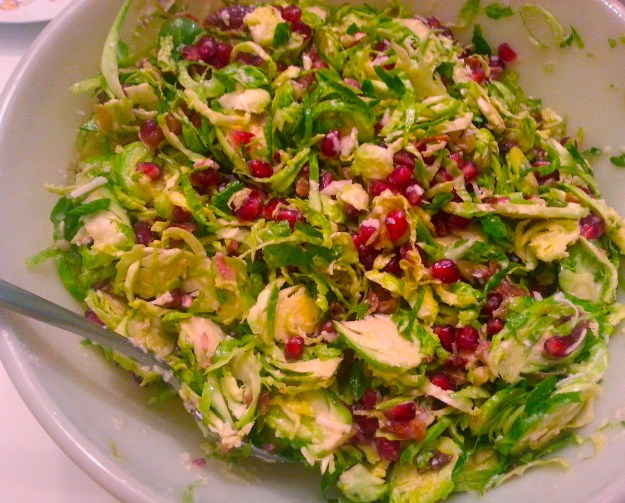 Pomegranate Brussel Sprout Salad | Simply Scrumptious by Sarah
