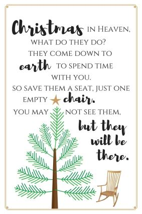 Merry Christmas From Heaven Poem Printable.Christmas In Heaven Download