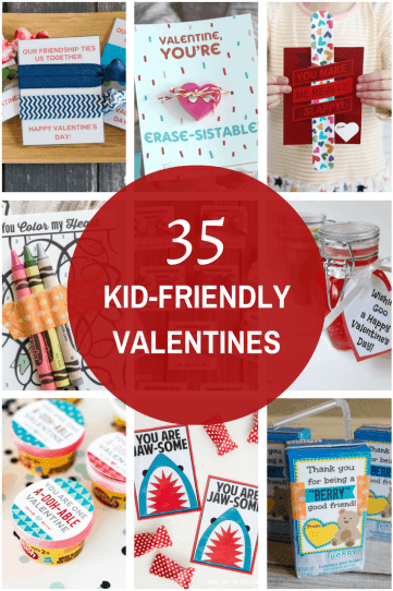 35 creative and free kid-friendly valentines, creative valentines, kid valentines, kid-friendly valentines, valentines, free valentines, valentine printables, candy valentines, non-candy valentines, prize valentines, last minute valentines
