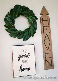 farmhouse signs and introducing simply september shop, farmhouse signs, farmhouse sign, farmhouse, farmhouse decor, diy farmhouse decor, simply september shop, etsy shop, etsy, wood farmhouse signs, wood signs, it's so good to be home, heaven