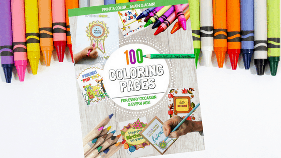 100 Pages for Every Occasion & Every Age, coloring book, 100 coloring pages, holiday coloring pages, child and adult coloring pages, adult coloring pages, child coloring pages, coloring pages for cards, coloring tags, holiday coloring pages, month coloring pages, coloring ebook, digital coloring book, simply september, print again and again