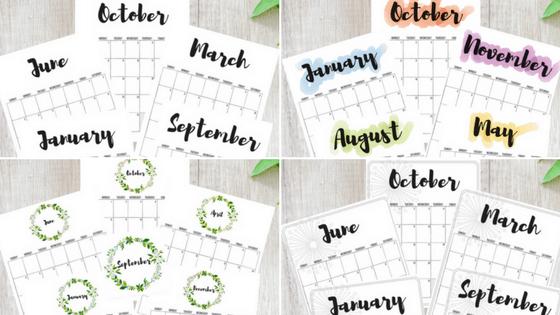 2018, 2018 Calendars, Free Printable Calendars, Free Calendars, Calendar  Designs, Watercolor