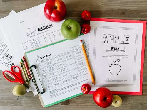 small resolution of Apple Week: PreK-1st Grade Apple Themed Resources - Simply September