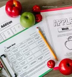 Apple Week: PreK-1st Grade Apple Themed Resources - Simply September [ 975 x 1300 Pixel ]