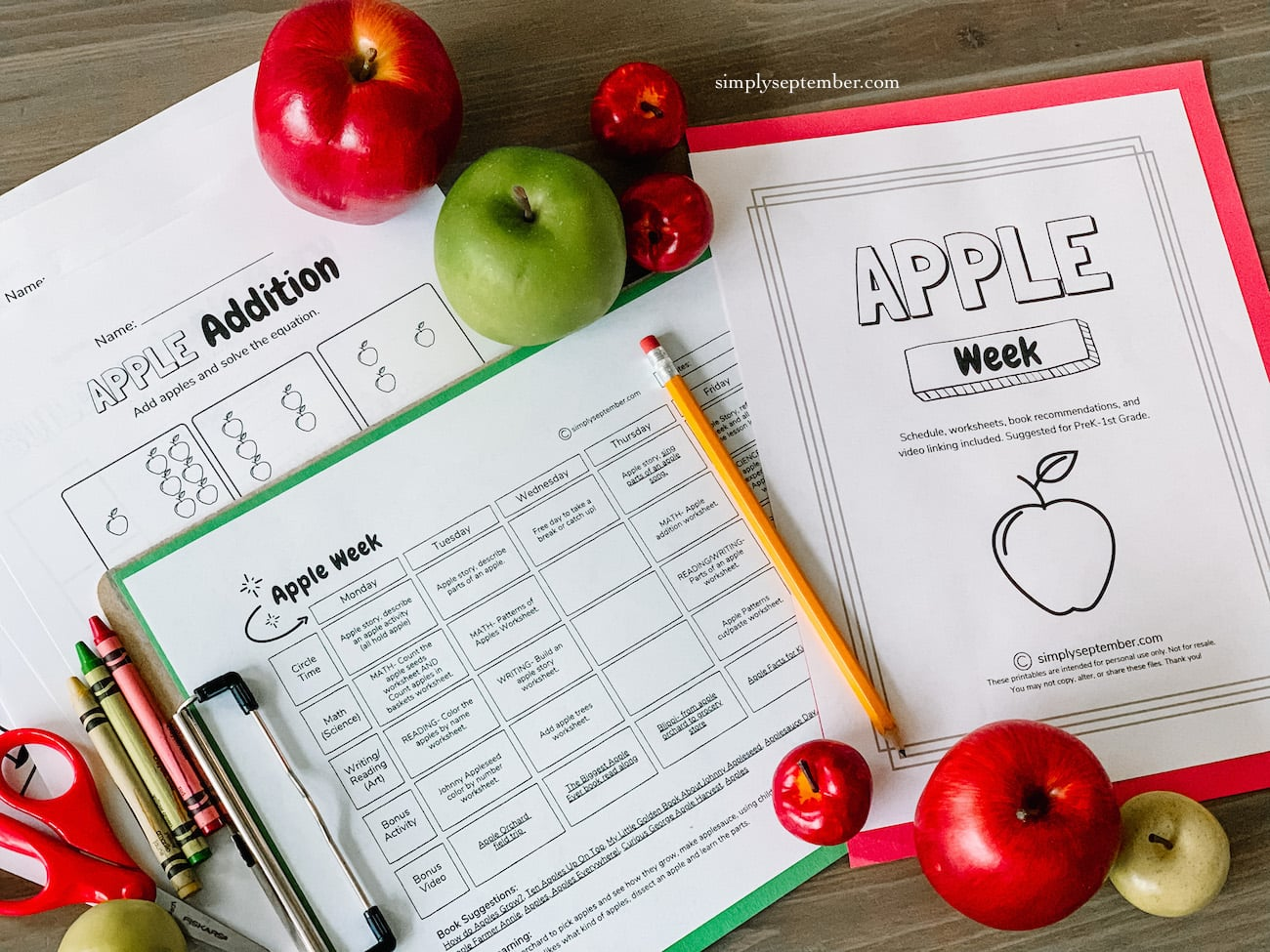hight resolution of Apple Week: PreK-1st Grade Apple Themed Resources - Simply September